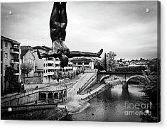 La Plongueuse Over The Midouze River Acrylic Print by RicardMN Photography