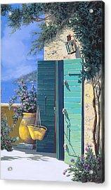 La Porta Verde Acrylic Print by Guido Borelli