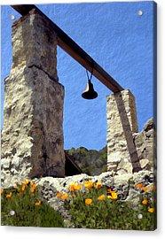 La Purisima Mission Bell Tower Acrylic Print by Kurt Van Wagner