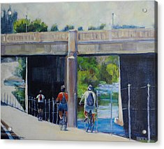 La River Bikepath Acrylic Print