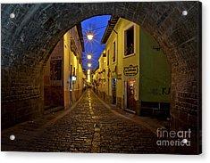 La Ronda Calle In Old Town Quito, Ecuador Acrylic Print by Sam Antonio Photography