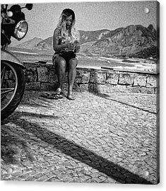 La Rubita Do Pontal  #woman #people Acrylic Print