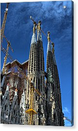 Acrylic Print featuring the photograph La Sagrada Familia By Antonio Gaudi by Farol Tomson