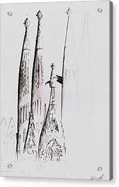 La Sagrada Familia Acrylic Print by Hiroki Uchida