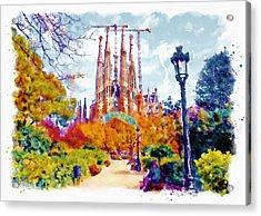 La Sagrada Familia - Park View Acrylic Print