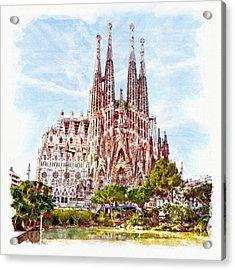 La Sagrada Familia Acrylic Print by Marian Voicu