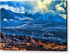 La Sal Mountains Arches National Park Acrylic Print