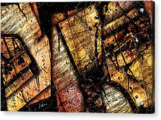 La Sonate De Ace Noir Acrylic Print by Gary Bodnar