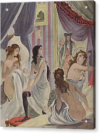 La Surprise Des Demoiselles D'honneur Acrylic Print by French School