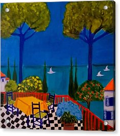La Terasse En St Tropez Acrylic Print