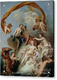 La Toilette De Venus Acrylic Print by Francois Lemoyne
