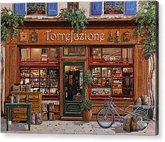La Torrefazione Acrylic Print by Guido Borelli