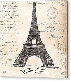 La Tour Eiffel Acrylic Print by Debbie DeWitt
