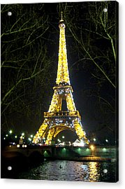 La Tour Eiffel En Nuit Acrylic Print