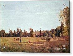 La Varenne De St. Hilaire Acrylic Print by Camille Pissarro