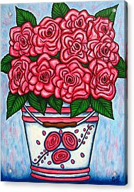 La Vie En Rose Acrylic Print by Lisa  Lorenz