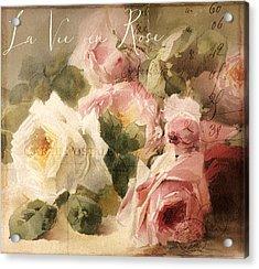 La Vie En Rose Acrylic Print by Mindy Sommers