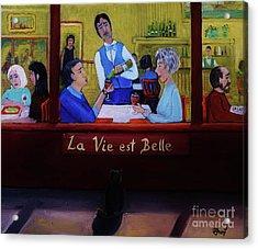 La Vie Est Belle Acrylic Print by Reb Frost