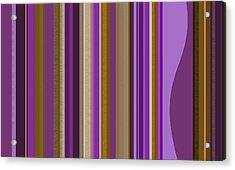 Large Purple Abstract - Two Acrylic Print