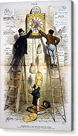 Labor Movement. Editorial Cartoon Acrylic Print by Everett