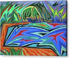 Lac Aura Acrylic Print by Robert SORENSEN