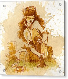 Laces Acrylic Print by Brian Kesinger