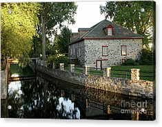 Lachine Canal Montreal Quebec Acrylic Print by John  Mitchell
