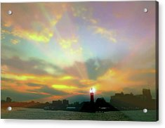Acrylic Print featuring the photograph Lackawanna Transit Sunset by Diana Angstadt