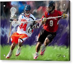 Lacrosse Close D Acrylic Print by Scott Melby