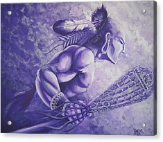 Lacrosse  Acrylic Print by Curtis Mitchell