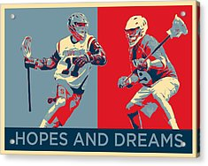 Lacrosse Pop Art Acrylic Print by Scott Melby