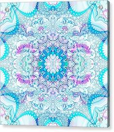 Acrylic Print featuring the digital art Lacy Mandala by Bee-Bee Deigner