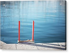 Ladder Into The Blue Acrylic Print
