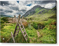 Ladder Stile To Tryfan Acrylic Print by Adrian Evans
