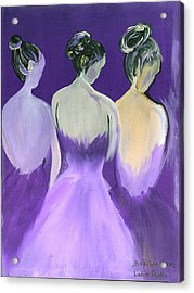 Ladies In Purple Acrylic Print by Robert Lee Hicks