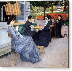 Ladies Sewing Acrylic Print by Gustave Caillebotte