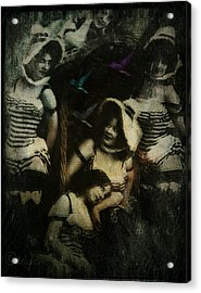 Acrylic Print featuring the digital art Ladies Who Lunch by Delight Worthyn