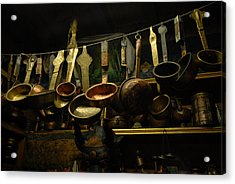 Ladles Of Tibet Acrylic Print by Donna Caplinger