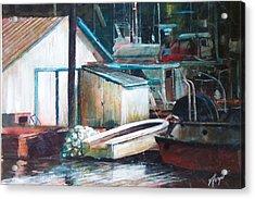 Ladner Harbour Acrylic Print by Victoria Heryet