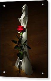 Lady And Rose Acrylic Print by Svetlana Sewell