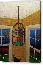 Lady Bird Acrylic Print by Thomas Blood