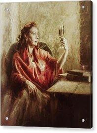 Lady By The Window Acrylic Print
