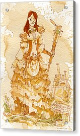 Lady Codex Acrylic Print by Brian Kesinger