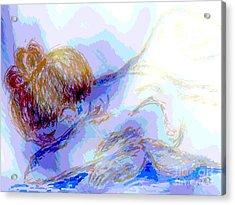 Lady Crying Acrylic Print