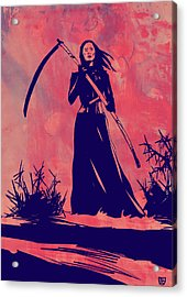 Acrylic Print featuring the drawing Lady D by Giuseppe Cristiano