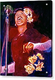 Lady Day - Billie Holliday Acrylic Print by David Lloyd Glover