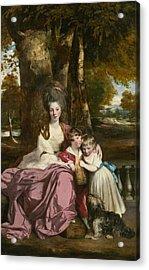 Lady Elizabeth Delme And Her Children Acrylic Print