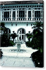 Lady Fountain Acrylic Print by Shirley Heyn
