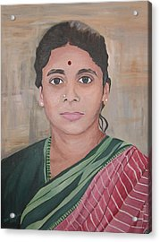 Lady From India Acrylic Print