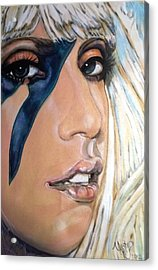 Lady Gaga 1 Acrylic Print by Misty Smith